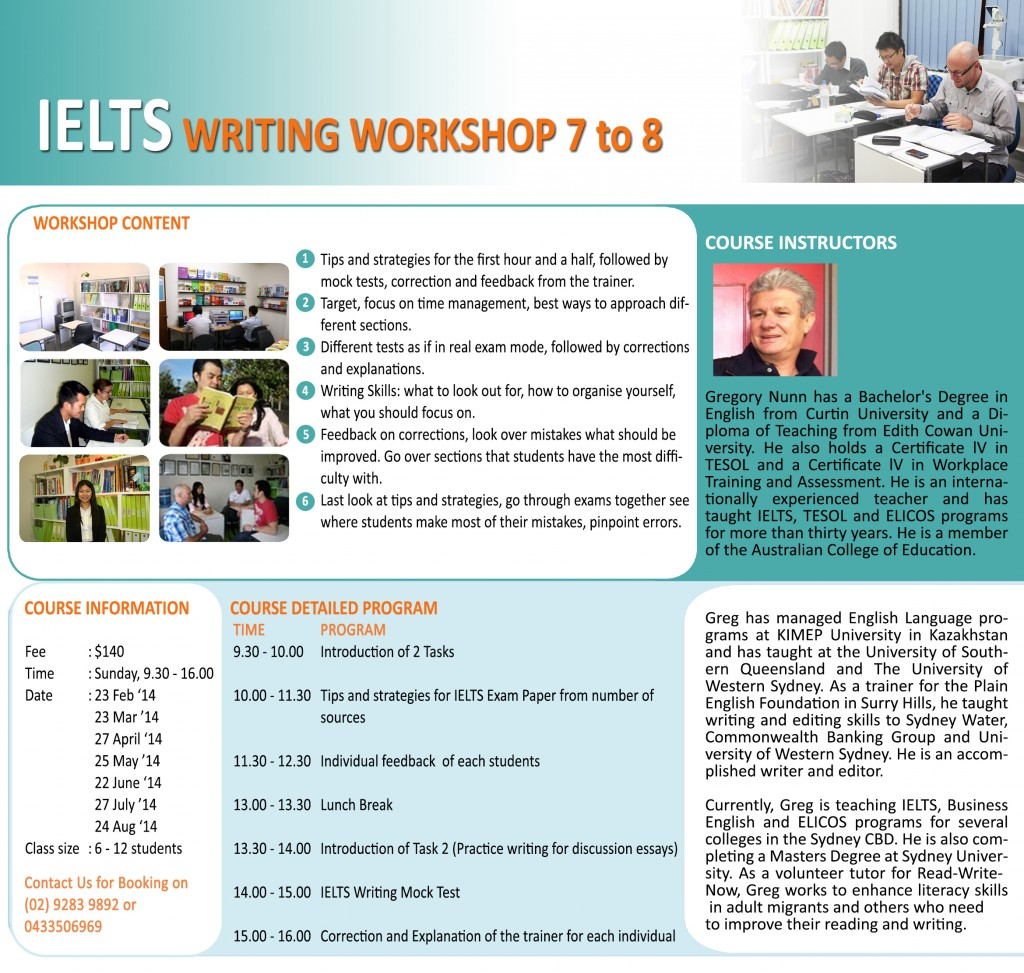 IELTS Writing Workshop 7-8